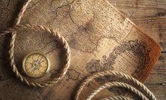 Harita, halat, Pusula, tablo vektör
