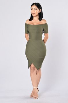 Made For You Dress - Olive | Fashion Nova - Janet Guzman