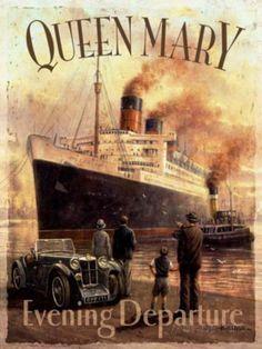 Queen Mary Blechschild von Kevin Walsh bei AllPosters.de