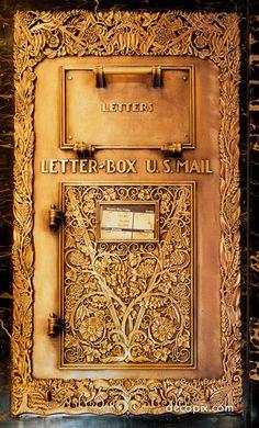 Amazing Metal Work on Mailbox, Exchange Building, Seattle, Washington, circa 1900 - decopix.com