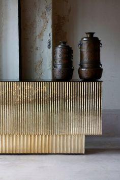 Fluted brass.