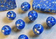 How to Make Faux Lapis Lazuli our of Polymer Clay
