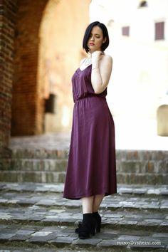 Black Star Style: Il perfetto abito a sottoveste e una pochette fai da te