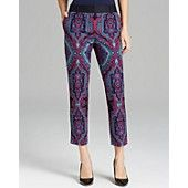 Adrianna Papell Printed Slant Pocket Pants