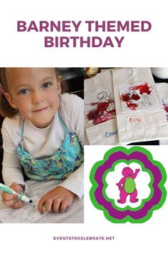 This is a perfect party for young kids! All these kids care about is having fun so here are several short activities to keep them engaged and having fun along with a few simple and inexpensive decoration ideas. Happy Birthday Banners, Birthday Party Themes, Girl Birthday, Kids Party Games, Games For Kids, Diy Party, Party Ideas, Barney The Dinosaurs, Barney & Friends