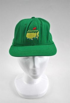 Vintage Adult Masters Green Leather Strap Golf Hat Cap Augusta Great X-mas  Gift 40ba5a4e5ba3