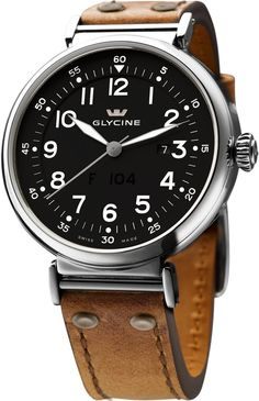 Glycine Watch F104 Automatic 48mm #bezel-fixed #bracelet-strap-leather #brand-glycine #case-material-steel #case-width-48mm #date-yes #delivery-timescale-call-us #dial-colour-black #gender-mens #luxury #movement-automatic #official-stockist-for-glycine-watches #packaging-glycine-watch-packaging #subcat-f-104 #supplier-model-no-3932-19at-lb7r #warranty-glycine-official-2-year-guarantee #water-resistant-30m