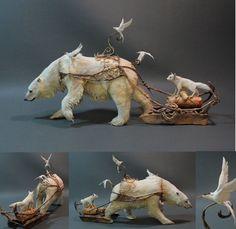 Сюрреалистичные скульптуры животных Ellen Jewett