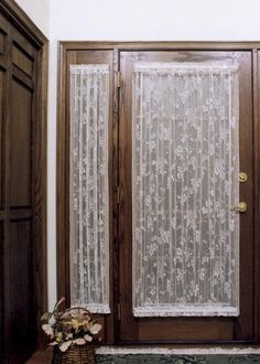 English Ivy Door Panels by Heritage Lace in Ecru and Whilte | Made in the USA
