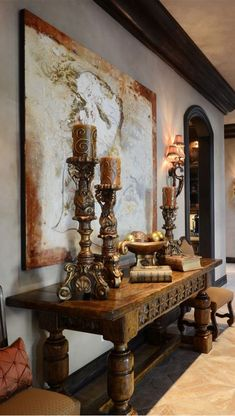 Mediterranean decor Italian - 24 Awesome Rustic Italian Decor That You Need to Try. Old World Decorating, Tuscan Decorating, Interior Decorating, Interior Design, Tuscany Home Decorating, Luxury Interior, Tuscan Style Homes, Spanish Style Homes, Tuscan House