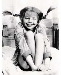 Pippi Longstocking. We watched the Pippi short films in elementary school on rainy days when we couldn't go outside for recess.