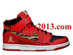 watch a03a7 ad65c Buy TG Years Of The Tiger Red Chinese Characters Nike Dunk High Top SB