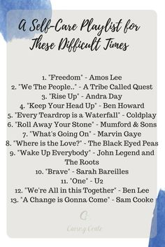 Playlist to inspire unity and love
