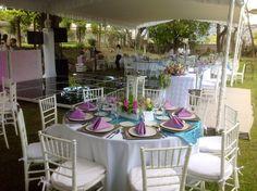Boda azul y lila - Quinta las Palmas -Tehuacan - Bodas Servicio a Domicilio