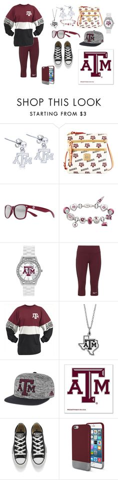 """Ready for the Game?  GO AGGIES!!!!!"" by flute1704 on Polyvore featuring Dayna U, Dooney & Bourke, Society43, The Bradford Exchange, Game Time, Studio, Pressbox, Fiora, adidas and WinCraft"
