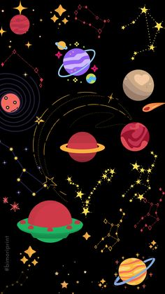 Descarga este y muchos fondos de pantalla completamente GRATIS EN NUESTRA WEB  #FONDODEPANTALLA #PLANETAS #ESTRELLAS #GALAXY #UNIVERSO #BACKGROUND #NEGRO #CONSTELACIONES #FONDOSDEPANTALLA #UNIVERSE #GALAXIA Wallpaper Space, Cute Wallpaper Backgrounds, Cute Wallpapers, Background Negro, Pints, Aliens, Barbie, Sticker, Stars