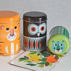 3 boîtes animaux Ingela P. Arrhenius  deco-graphic.com
