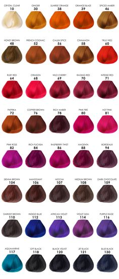 Adore hair color chart