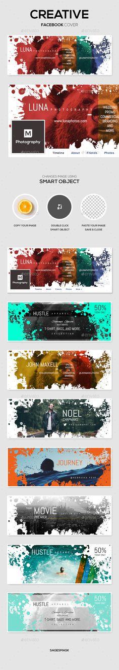 Creative Facebook Cover Template PSD