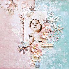 Love Always scrapbook layout by Anna Zaprzelska