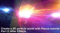 Learn how to create an insanely amazing 3D particle world using C4D and Plexus including particle trails, 3D landscapes and a motion captured actor.