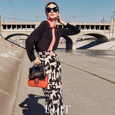 Supermodel @MirandaKerr leads a masterclass in modern ladylike #style in…