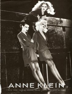 Anne Klein ad, 1994. (with Shalom Harlow, Nadja Auermann, & Kirsty Hume by Steven Meisel.