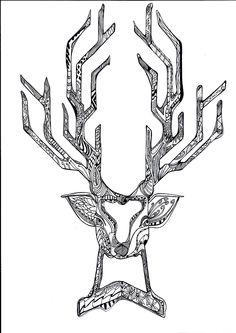 #deer #sketch #draw #hndmade #pattern