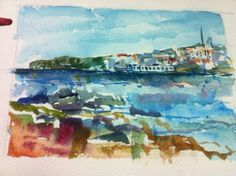 Es Grau bay, Menorca Menorca, My Arts, Sketches, Painting, Painting Art, Draw, Paintings, Doodles, Sketch