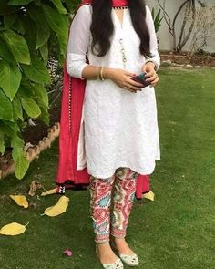 Chicken Kari Shirt Indian Embroided Pulkari Pant Chiffon Dupatta Custom Made…