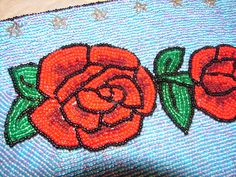 SALE Hand Beaded Roses Upcycle Re Purpose by NopalitoVintageMore, $15.00
