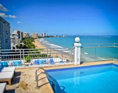 San Juan Water & Beach Club Hotel (2 Tartak Street) Less than 5 minutes' drive from San Juan International Airport, this boutique hotel offers a rooftop pool, on-site dining, and rooms overlooking the beach and city. It is a 10-minute drive from San Juan's old town. #bestworldhotels #hotel #hotels #travel #pr #sanjuan