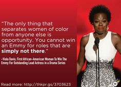 Let's not bury the lede here: Viola Davis became the first African American to win Outstanding Lead Actress in a Drama Series at the Emmy Awards on Sunday night. Women In America, Viola Davis, Smash The Patriarchy, Black Actresses, The Emmys, Feminist Quotes, Intersectional Feminism, African Diaspora, African American Women