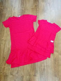 Červené šaty pre mamu a dcéru 30e