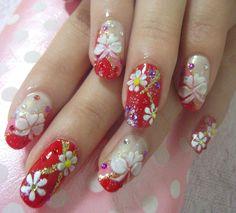 yukata nail art