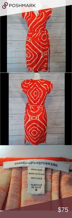 Womens Diane Von Furstenberg Kiamo Wrap Dress Womens Diane Von Furstenberg Kiamo Wrap Dress 100% silk  Size 6  Has a few snags, please see pictures   Thank you for your interest! Please check out my other listings Diane von Furstenberg Dresses Midi