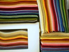 Nice site to buy wool felt...includes samplers to see the colors.
