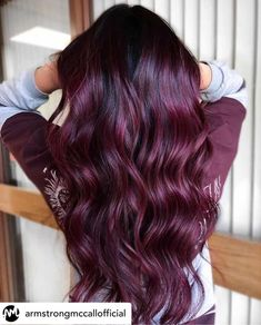 Red Violet Hair, Violet Hair Colors, Dark Red Hair, Hair Color For Black Hair, Unique Hair Color, Deep Burgundy Hair, Teal Hair, Bright Hair, Fall Hair Color For Brunettes