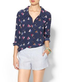 3 Ways to Wear Blouse in Summer : Equipment Llong Sleeve Blouse