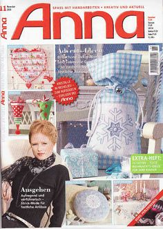 Anna Craft Mag: Fabric, Felt, Cross-stitch and general sewing - Many handicraft projects with Christmas/Winter theme.