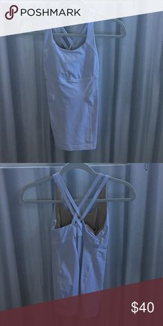 Lululemon white tank Never worn- no tags included lululemon athletica Tops Tank Tops