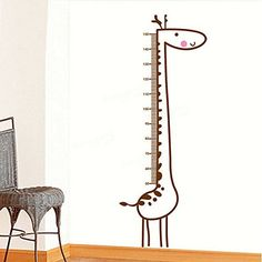 Ideana Giraffe Wall Stickers Kids Children Room Baby Growth Chart Height Decal Measure Removable Home Decoration >>> You can get additional details at the image link.Note:It is affiliate link to Amazon. #liker