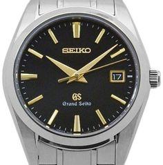 Seiko Grand SBGX069 9F62-0AE0 Titanium Quartz Black 37mm Mens Watch