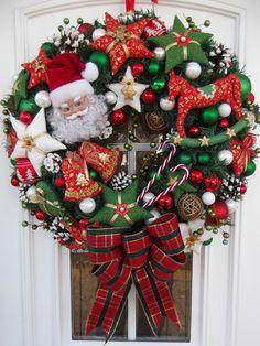 Türkranz,Weihnachten,Weihnachtskranz Rot-Grün-Weiß,Tilda-Art | eBay