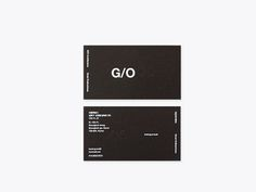G/O Architecture G/O Architecture (Identity) Date / Graphic Design Layouts, Freelance Graphic Design, Graphic Design Projects, Letterpress Business Cards, Business Card Logo, Typography Layout, Typography Poster, Bussiness Card, Business Card Design Inspiration