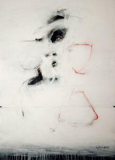 """Saatchi Art Artist: Gaston Carrio; Mixed Media 2009 Painting """"UNTRUTH II"""""""