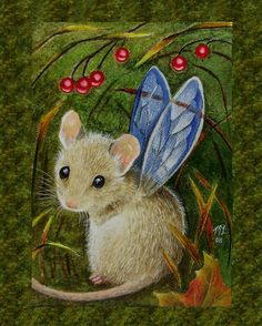 8x10 Little Mouse Fairy Art Print Melody Lea Lamb by MelodyLeaLamb, $25.00
