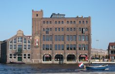 Droste Cacao Factory after restoration, Spaarne, Haarlem, the Netherlands