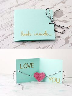 Valentine's Card idea, wedding anniversary or just because to say~ I love you!