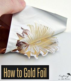 Learn how to use a foil machine to make beautiful cards and embellishments. The new Anna Griffin Mine machine it so fun!... Crafting in the Rain #ad